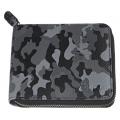 Кошелёк Zippo, цвет серо-чёрный камуфляж, натуральная кожа, 12×2×10,5 см