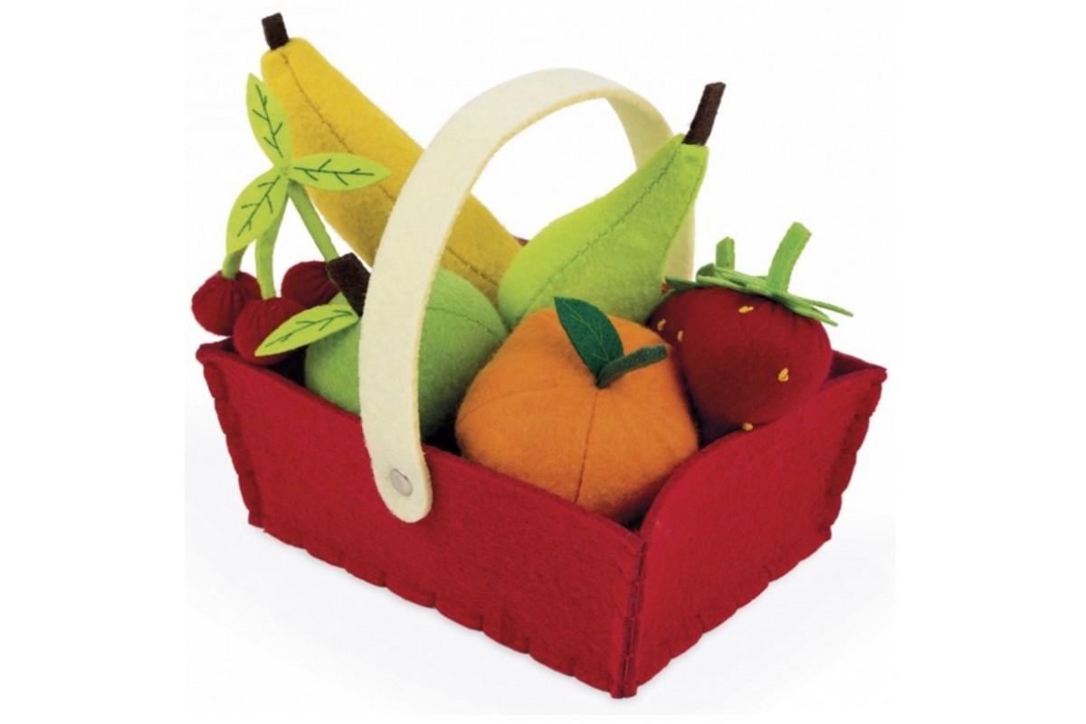 Janod Набор фруктов в корзинке: 8 предметов