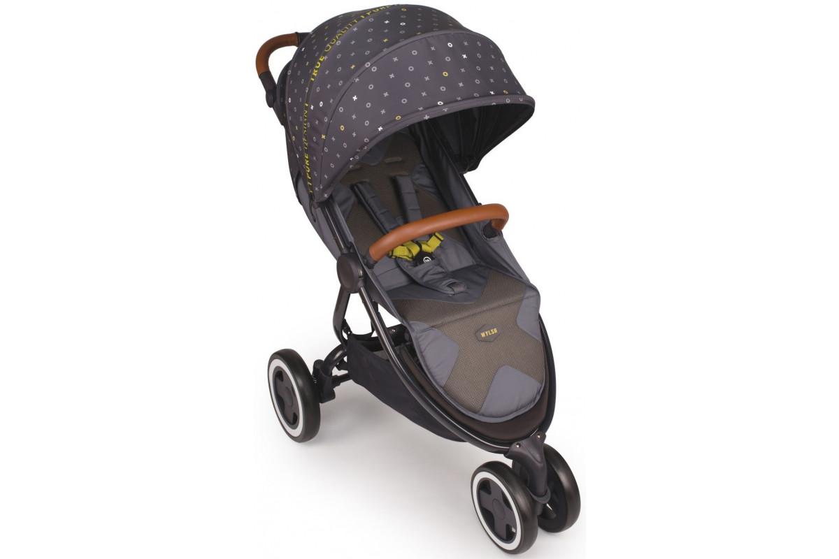 Happy Baby Wylsa - прогулочная коляска серый
