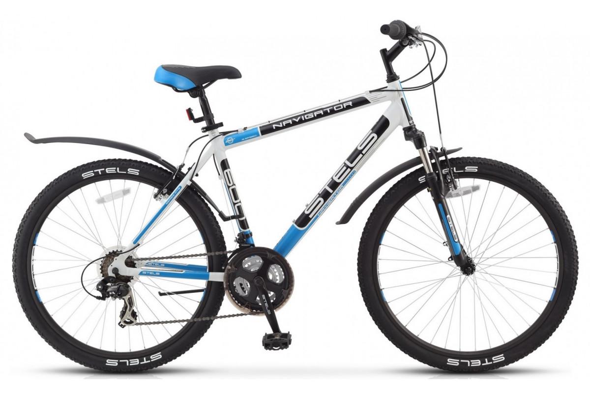 Велосипед Stels Navigator 600 V Белый/Черный/Синий (16 г) (LU085064) 19'