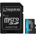 Карта памяти Kingston microSDXC Canvas Go Plus Class 10 UHS-I U3 (170/90MB/s) 128GB + ADP