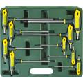 """Набор KRAFTOOL Ключи """"INDUSTRIE"""" имбусовые,Cr-Mo(S2),Т-образные,эргоном двухкомп рукоятка,TORX Hole 10-50,9 шт,в боксе"""