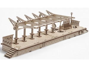 Ugears Перрон - механический деревянный конструктор