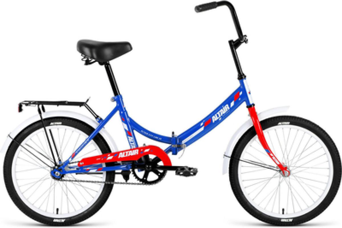 """Велосипед 20"""" Altair City 20 1 ск 17-18 г 14' Темно-синий-Красный/RBKN8YF01007"""