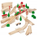 Eichhorn Набор деревянной ж/д с мостом, 55 детали