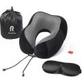 Подушка для путешествий Roadlike Travel Kit Velvet с эффектом памяти, черный