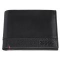 Портмоне Zippo с защитой от сканирования RFID, цвет чёрный, натуральная кожа, 11,5×2×9,5 см