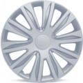 """Колпаки на колёса AUTOPROFI, PP пластик, регулировочный обод для разн. типов дисков, компл. из 4 шт., цветн. коробка, металлик, разм. 16"""" (400мм),, 1/4"""