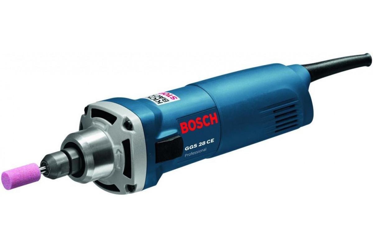 Шлифмашина прямая Bosch GGS 28 CE (0.601.220.100)  650Вт 10000-28000об/мин 6мм