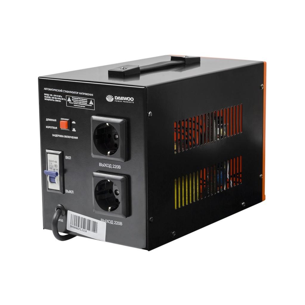 Стабилизатор напряжения Daewoo DW-TZM500VA  500Вт 140-270В 20мс кпд 95% защита от кз/помех 1х220В