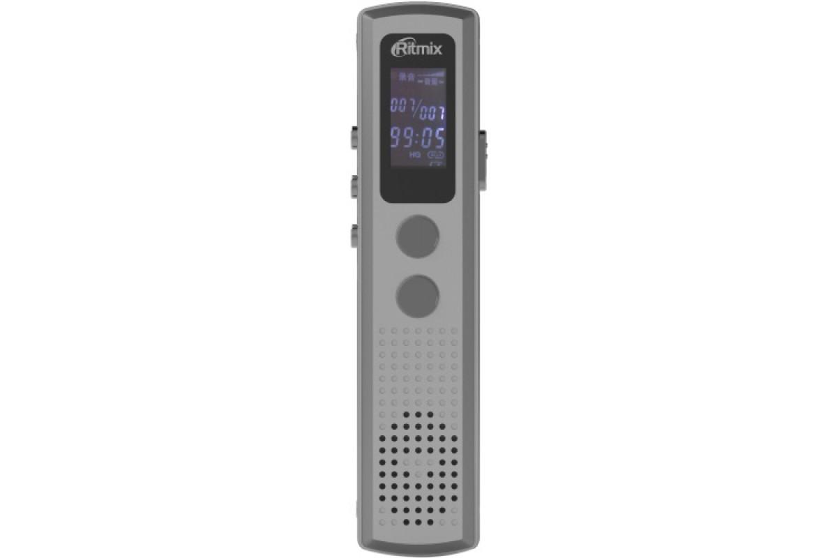 Цифровой диктофон Ritmix RR-120 8Gb серебряный