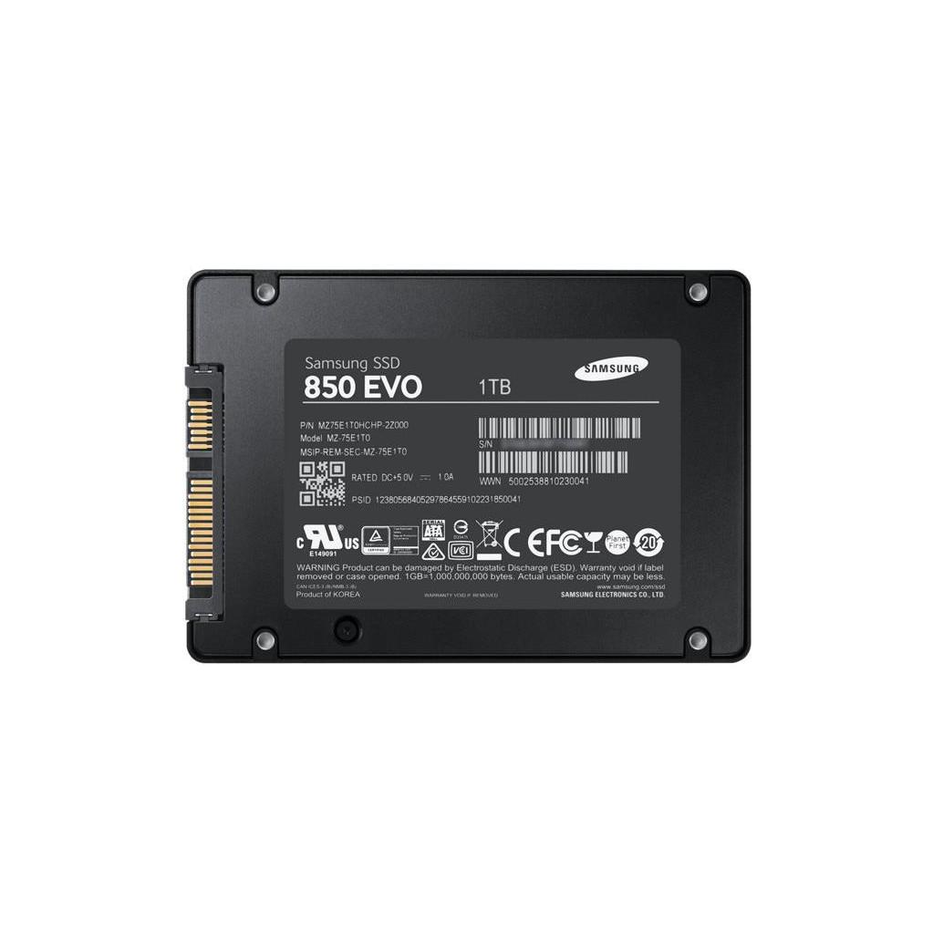 "Накопитель SSD Samsung SATA III 1Tb MZ-75E1T0BW 850 EVO 2.5"""