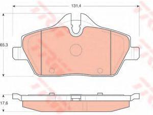 Колодки тормозные передние TRW  GDB1611 для BMW E81/E87/MINI Cooper /131.4x65.3/t=17.6mm