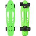 "Y-Scoo Skateboard Fishbone с ручкой 22"" - скейтборд с ручкой и сумкой Green-black"