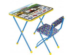 Набор мебели Ника Большие Гонки стол и мягкий стул