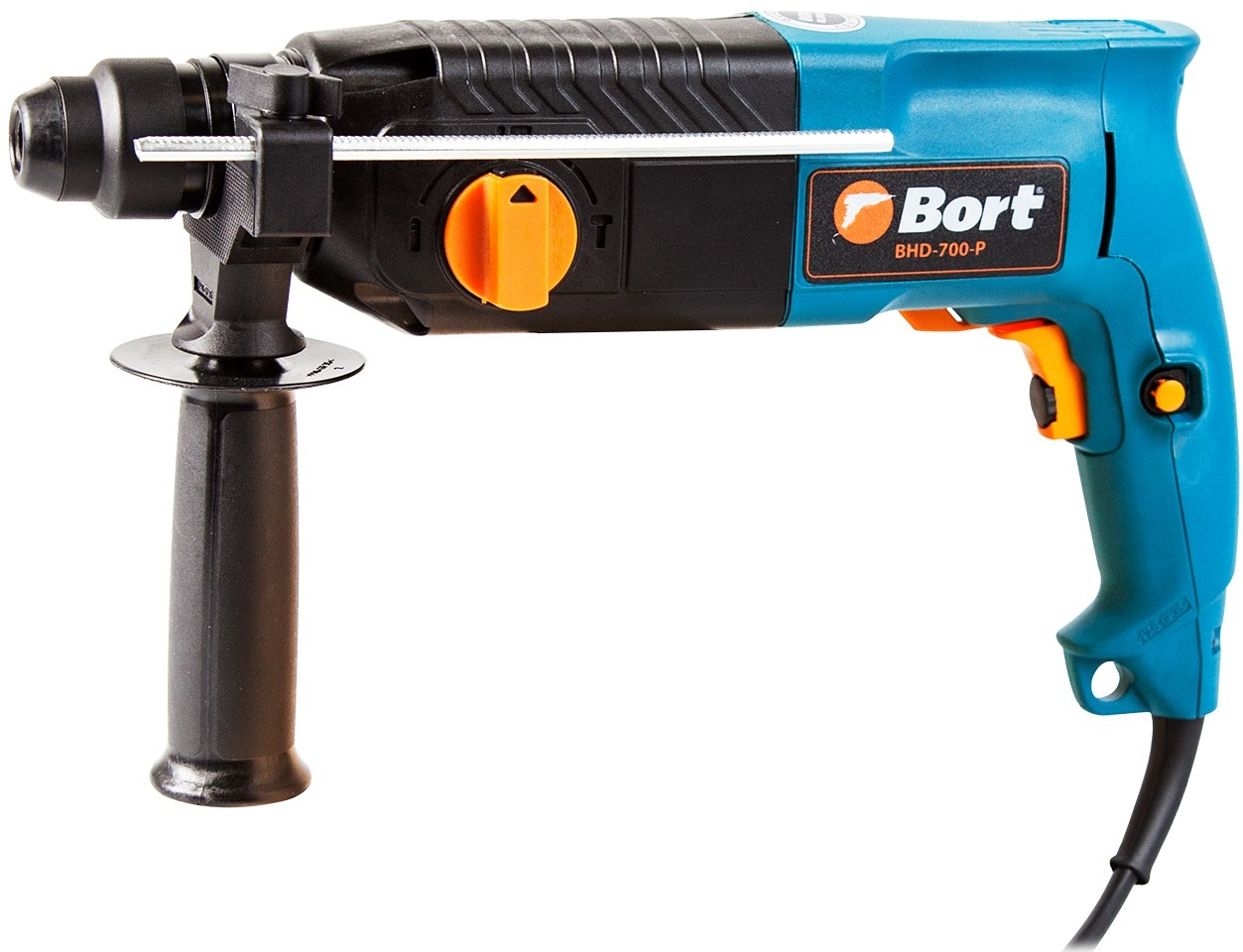 Перфоратор Bort BHD-700-P патрон:SDS-plus уд.:3Дж 700Вт