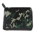 Кошелёк Zippo, цвет зелёно-чёрный камуфляж, натуральная кожа, 12×2×10,5 см