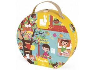Janod Пазл День Рождения в круглом чемоданчике: 36 элементов