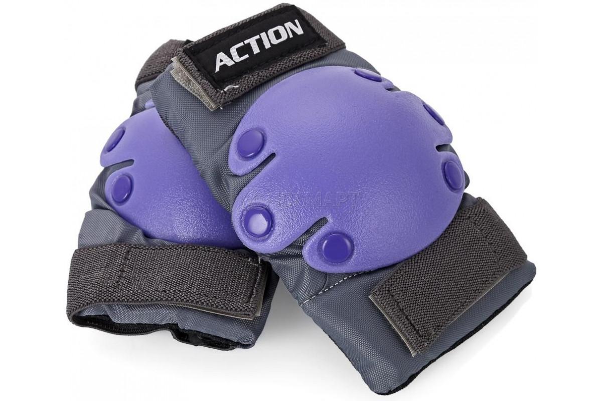 """Защита роликовая тройная Action 302 -PW """"Чулок"""", L"""