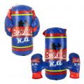Набор для бокса 1TOY подвесной, груша, перчатки, 13х30см.