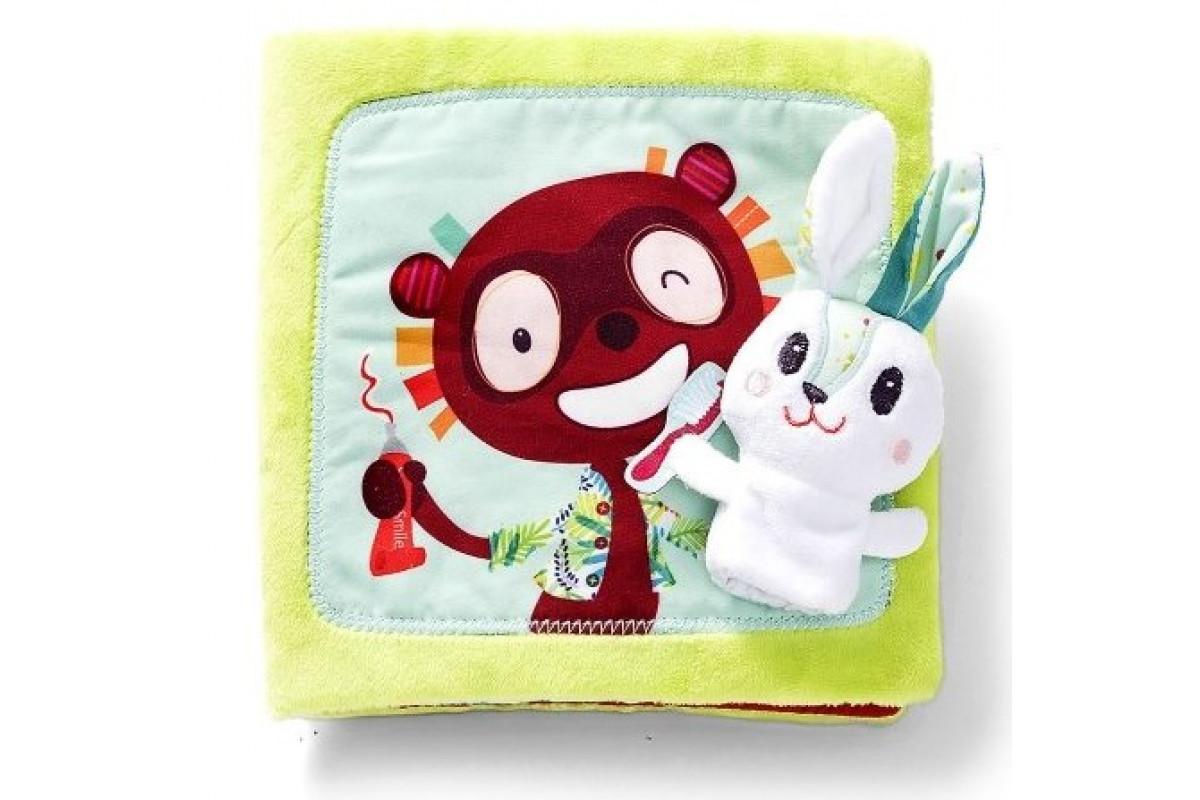 Lilliputiens Книжка мягкая Про кролика Селестина, зубного врача