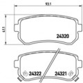 Колодки тормозные задние TEXTAR 2432001 для KIA Rio 06- /KIA Ceed/HYUNDAI i20/i30/ix35