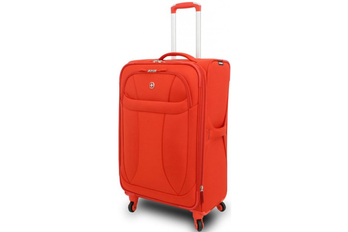 """Чемодан WENGER """"NEO LITE Spinner"""", оранжевый, полиэстер, 47х27x74 см, 64 л, 72087726"""