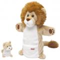 Trudi Лев со львенком 28 сантиметров - мягкая игрушка на руку