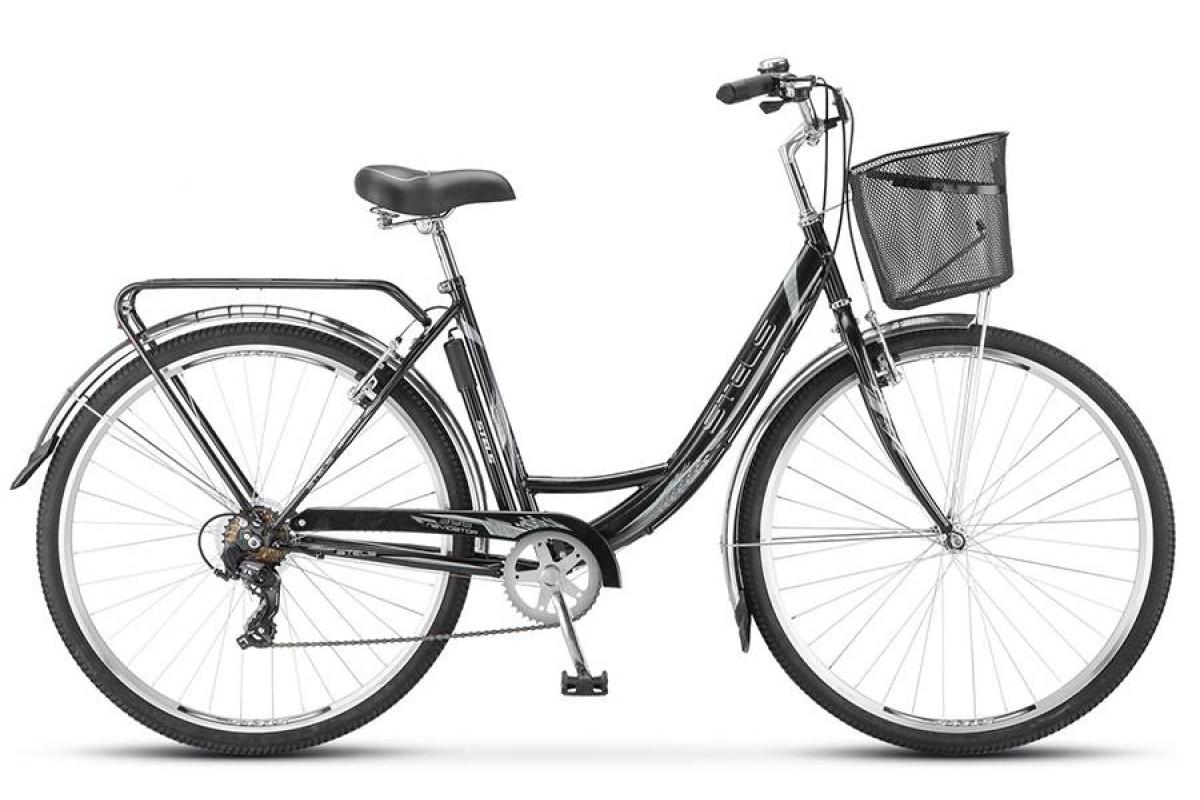 """Велосипед Stels Navigator 28"""" 395 Z010 Чёрный (с корзиной) (LU089103) 20"""""""