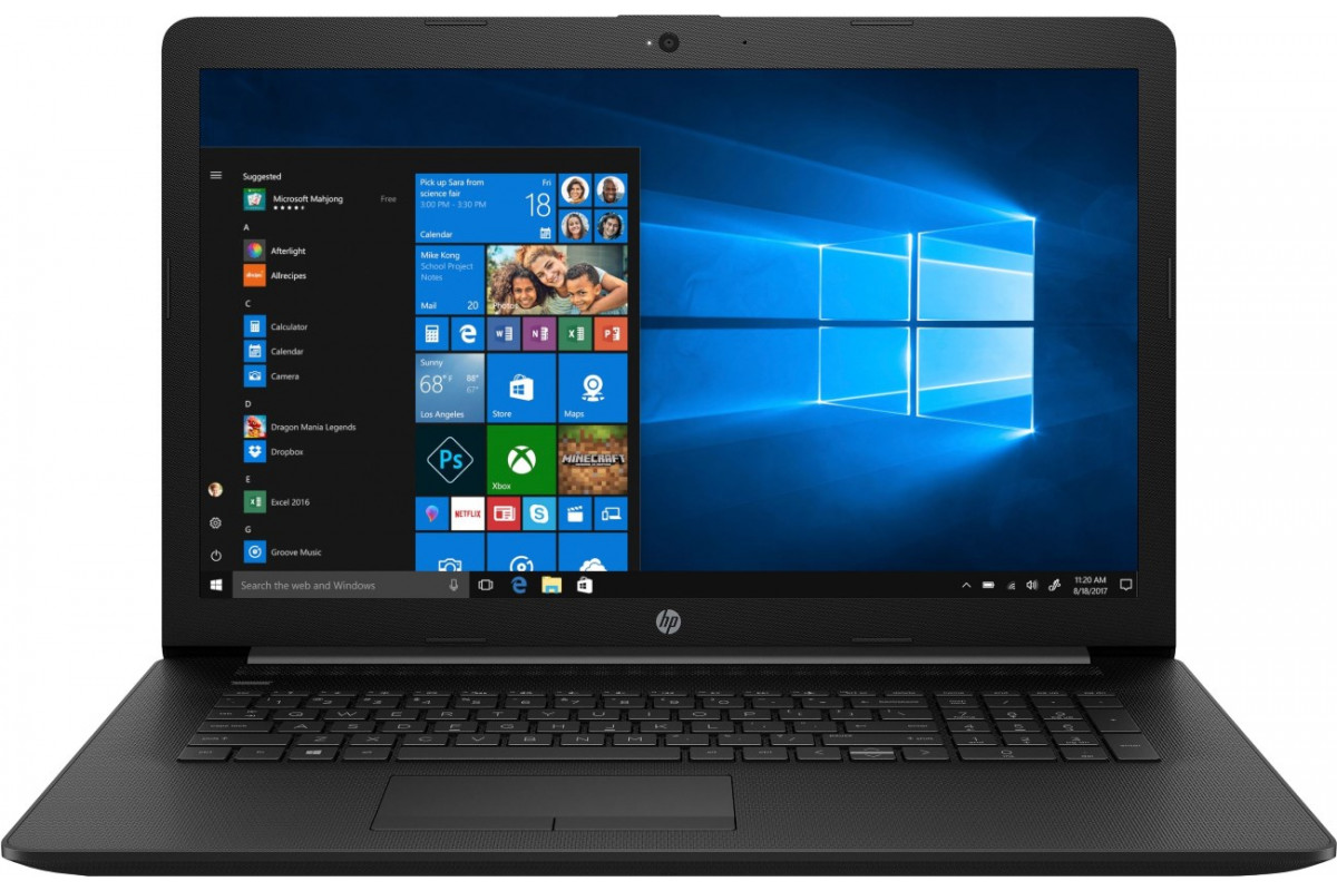 "Ноутбук HP 17-by1009ur <5SX52EA> i5-8265U (1.6)/8Gb/1Tb/17.3"" HD+ AG/AMD Radeon 530 2GB/DVD-RW/Cam/Win10 (Black)"