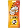 Бритва BIC 3 для чувствительной кожи, упаковка 4 шт.
