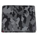 Портмоне Zippo, цвет серо-чёрный камуфляж, натуральная кожа, 10,8×2,5×8,6 см