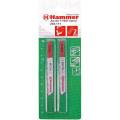 Пилка для лобзика Hammer Flex 204-111 JG MT T118AF  металл, 67мм, шаг 1.1-1.5, BiM, 2шт.