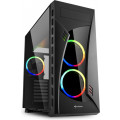 Компьютерный корпус Sharkoon Night Shark RGB led, черный