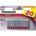 Батарейки Panasonic LR03REE/20B AAA щелочные Everyday Power multi pack в блистере 20шт