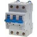 """Выключатель автоматический Светозар 3-полюсный, 6 A, """"B"""", откл. сп. 6 кА, 400 В"""