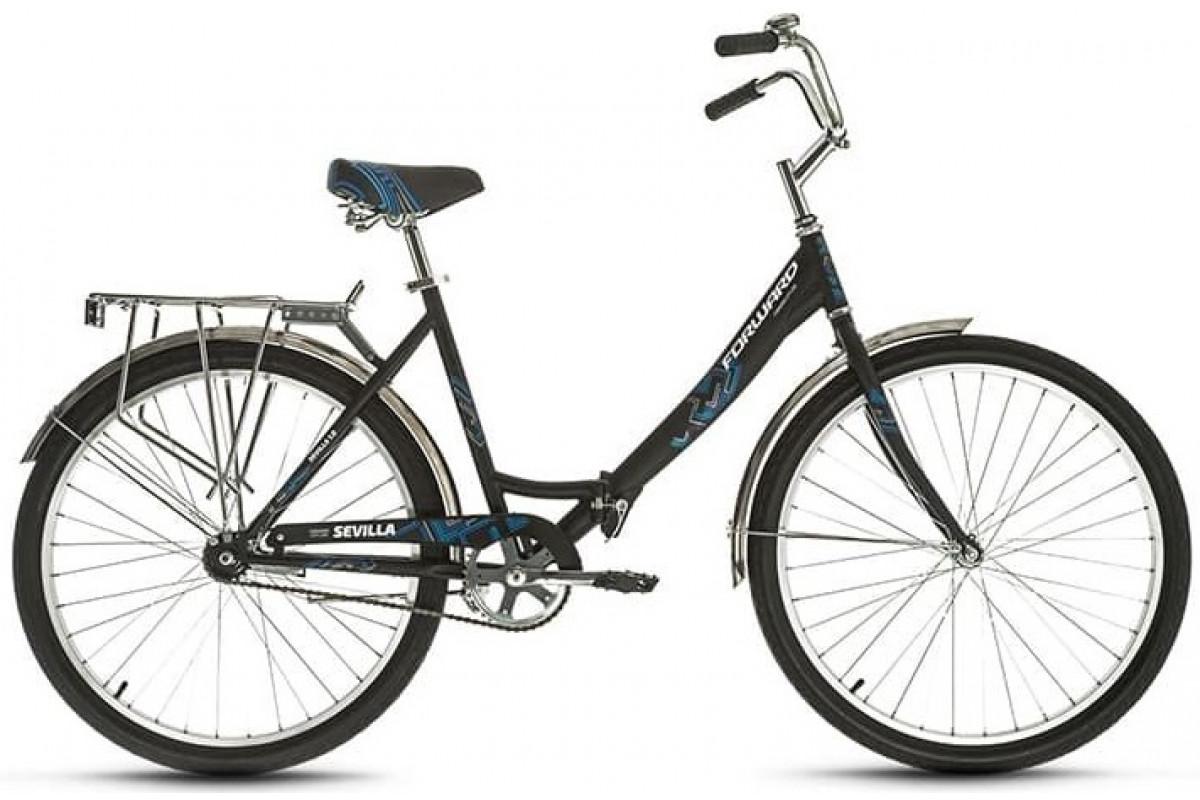 """Велосипед 26"""" Forward Sevilla 26 1.0 18-19 г 18.5' Черный Матовый"""