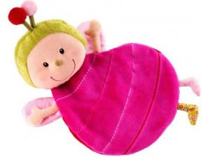 Lilliputiens Игрушка-обнимашка Божья коровка Лиза с держателем для пустышки; подарочная коробка