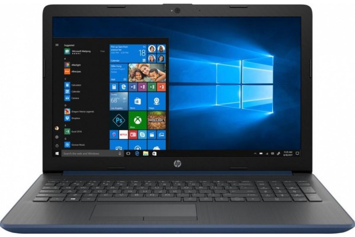 "Ноутбук HP 15-db0092ur <4KH80EA> Ryzen 5-2500U (2.0)/8Gb/1Tb+128Gb SSD/15.6""HD AG/Int AMD Radeon Vega 8/No ODD/Cam HD/Win10 (синий)"