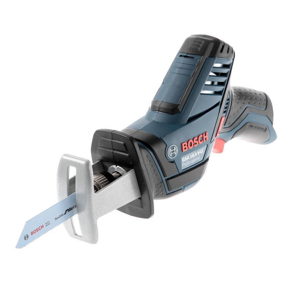 Ножовка акк. Bosch GSA 10,8 V-LI БЕЗ АКК. (0.601.64L.902)  10.8В (12V-14) LiION 3000ход/мин ход14.5м