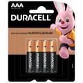 Батарейка щелочная Duracell LR03 (AAA) 1.5В блистер 4шт