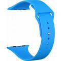 Ремешок силиконовый для Apple Watch 40мм, голубой