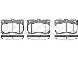 Колодки тормозные задние VK TECHNOLOGY VT 32102 для LEXUS IS 200/GS 300 05-