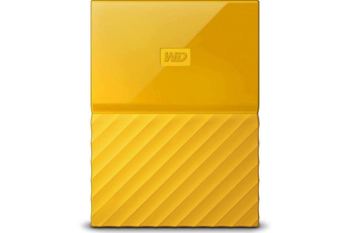 "Внешний жёсткий диск WD My Passport WDBBEX0010BYL-EEUE 1TB 2,5"" USB 3.0 желтый"
