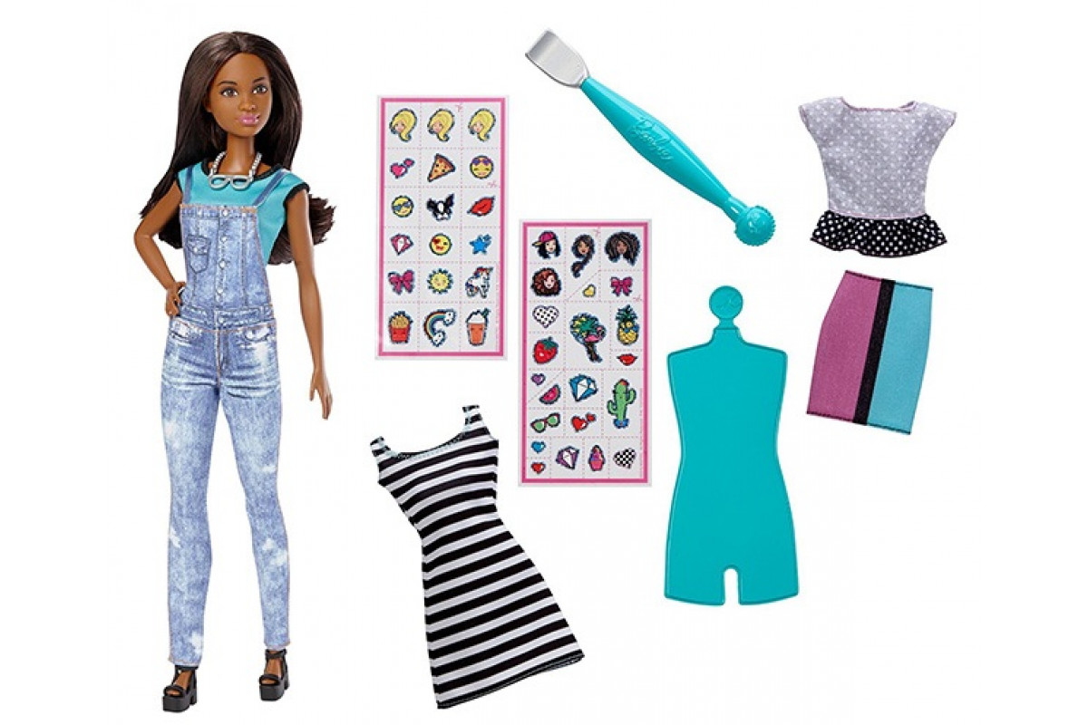 Barbie Кукла с одеждой и аксессуарами Emoji Mattel DYN94