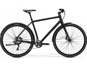 Велосипед Merida Crossway Urban XT Edition MattBlack/DarkReflectiveBlue 2019 ML(52cm)(77717)