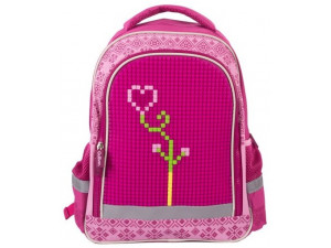 Gulliver Рюкзак школьный с пикси-дотами (розовый)
