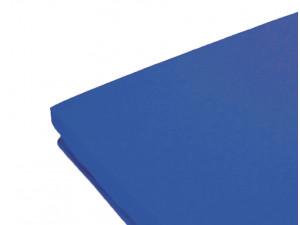Простынь Nova Сатин 140х200х26 на резинке синяя