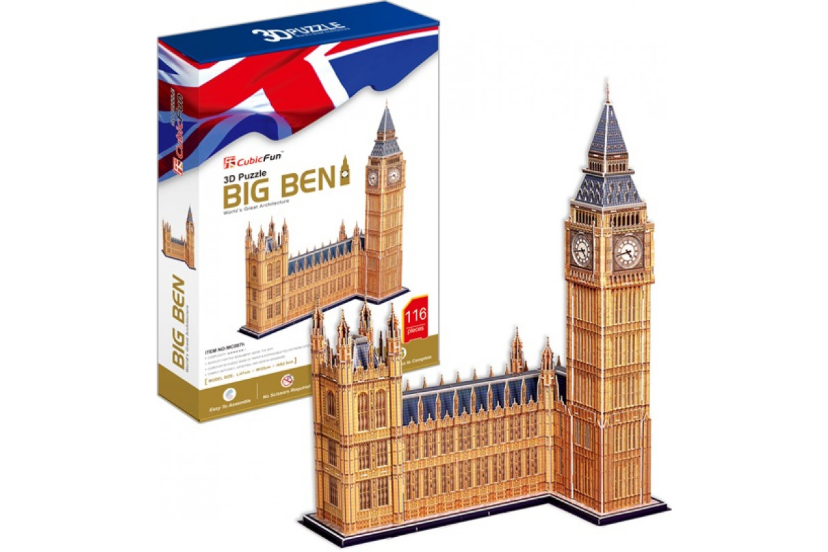CubicFun 3D пазл Игрушка Биг Бен (Великобритания)