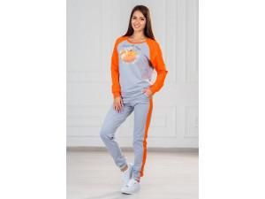 Костюм ModaRU Лиса 3 (54) оранжевый/серый меланж